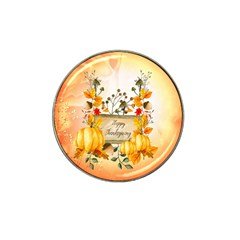 Happy Thanksgiving With Pumpkin Hat Clip Ball Marker (10 Pack)