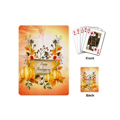 Happy Thanksgiving With Pumpkin Playing Cards (mini)
