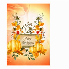 Happy Thanksgiving With Pumpkin Small Garden Flag (two Sides)