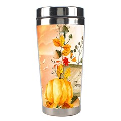 Happy Thanksgiving With Pumpkin Stainless Steel Travel Tumblers