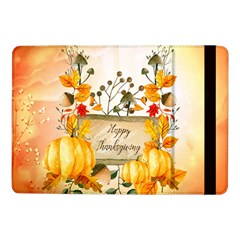 Happy Thanksgiving With Pumpkin Samsung Galaxy Tab Pro 10 1  Flip Case