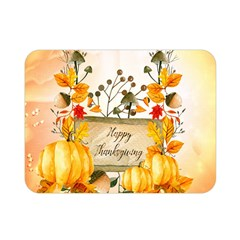 Happy Thanksgiving With Pumpkin Double Sided Flano Blanket (mini)