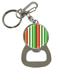 Christmas Holiday Stripes Red Button Necklaces