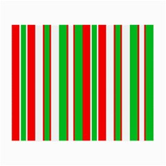 Christmas Holiday Stripes Red Small Glasses Cloth (2 Side)