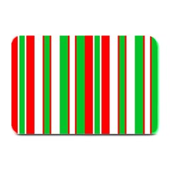 Christmas Holiday Stripes Red Plate Mats