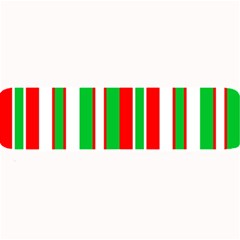 Christmas Holiday Stripes Red Large Bar Mats