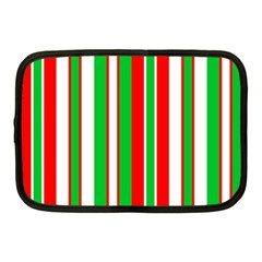 Christmas Holiday Stripes Red Netbook Case (medium)