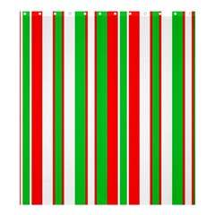 Christmas Holiday Stripes Red Shower Curtain 66  X 72  (large)