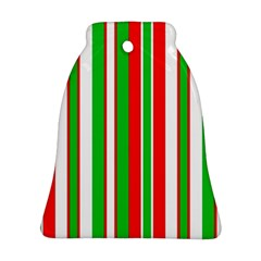 Christmas Holiday Stripes Red Ornament (bell)