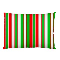 Christmas Holiday Stripes Red Pillow Case (two Sides)