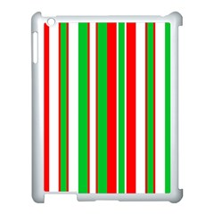 Christmas Holiday Stripes Red Apple Ipad 3/4 Case (white)