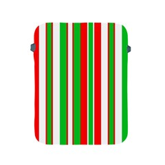 Christmas Holiday Stripes Red Apple Ipad 2/3/4 Protective Soft Cases