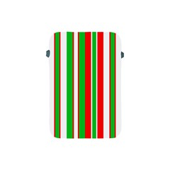 Christmas Holiday Stripes Red Apple Ipad Mini Protective Soft Cases