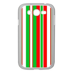 Christmas Holiday Stripes Red Samsung Galaxy Grand Duos I9082 Case (white)