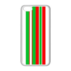 Christmas Holiday Stripes Red Apple Iphone 5c Seamless Case (white)