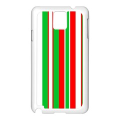 Christmas Holiday Stripes Red Samsung Galaxy Note 3 N9005 Case (white)