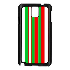 Christmas Holiday Stripes Red Samsung Galaxy Note 3 N9005 Case (black)