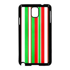 Christmas Holiday Stripes Red Samsung Galaxy Note 3 Neo Hardshell Case (black)