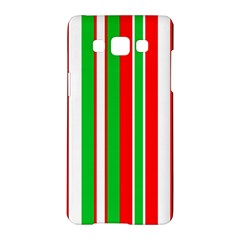 Christmas Holiday Stripes Red Samsung Galaxy A5 Hardshell Case