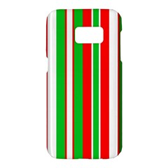 Christmas Holiday Stripes Red Samsung Galaxy S7 Hardshell Case