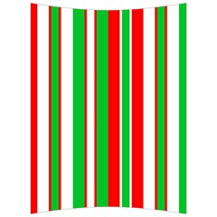 Christmas Holiday Stripes Red Back Support Cushion