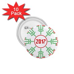 Snowflake Graphics Date Year 1 75  Buttons (10 Pack)