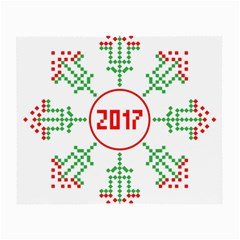 Snowflake Graphics Date Year Small Glasses Cloth