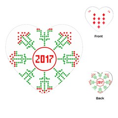 Snowflake Graphics Date Year Playing Cards (heart)