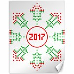 Snowflake Graphics Date Year Canvas 12  x 16   16 x12 Canvas - 1
