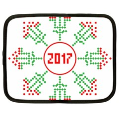 Snowflake Graphics Date Year Netbook Case (xxl)