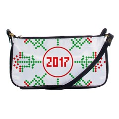 Snowflake Graphics Date Year Shoulder Clutch Bags