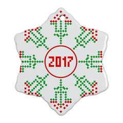 Snowflake Graphics Date Year Ornament (snowflake)