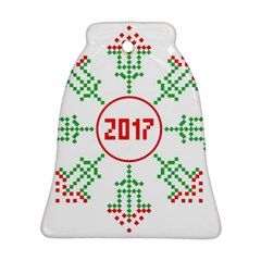 Snowflake Graphics Date Year Bell Ornament (two Sides)