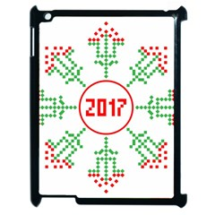 Snowflake Graphics Date Year Apple Ipad 2 Case (black)