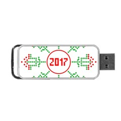 Snowflake Graphics Date Year Portable Usb Flash (two Sides)