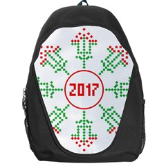 Snowflake Graphics Date Year Backpack Bag