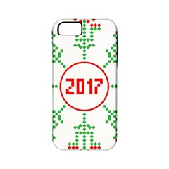 Snowflake Graphics Date Year Apple Iphone 5 Classic Hardshell Case (pc+silicone)