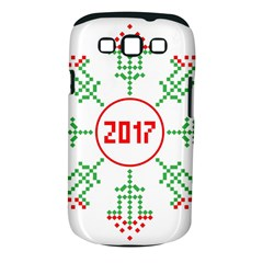 Snowflake Graphics Date Year Samsung Galaxy S Iii Classic Hardshell Case (pc+silicone)