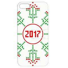 Snowflake Graphics Date Year Apple Iphone 5 Hardshell Case With Stand