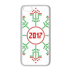 Snowflake Graphics Date Year Apple Iphone 5c Seamless Case (white)