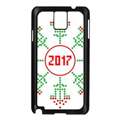 Snowflake Graphics Date Year Samsung Galaxy Note 3 N9005 Case (black)