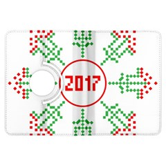 Snowflake Graphics Date Year Kindle Fire Hdx Flip 360 Case