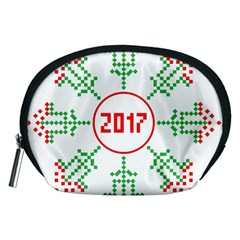 Snowflake Graphics Date Year Accessory Pouches (medium)