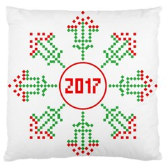 Snowflake Graphics Date Year Standard Flano Cushion Case (one Side)