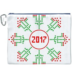 Snowflake Graphics Date Year Canvas Cosmetic Bag (xxxl)