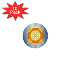 Star Pattern Background 1  Mini Buttons (10 Pack)