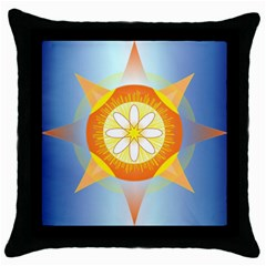 Star Pattern Background Throw Pillow Case (black)