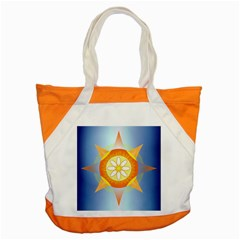 Star Pattern Background Accent Tote Bag