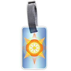 Star Pattern Background Luggage Tags (one Side)