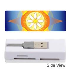 Star Pattern Background Memory Card Reader (stick)
